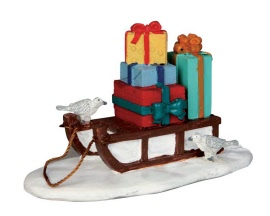 Lemax Village Collection Sled With Presents # 54937