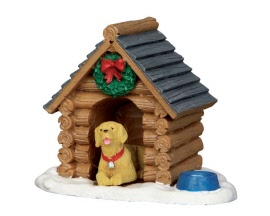Lemax Village Collection Log Cabin Dog House # 54943