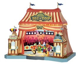 Lemax Village Collection Berry Brothers Big Top with Adaptor # 55918