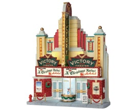 Lemax Village Collection Victory Theater Facade Battery Operated # 55920