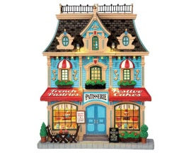 Lemax Village Collection French Pastry Shop Facade Battery Operated # 55921