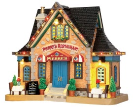 Lemax Village Collection Pierre's Restaurant with Adaptor # 55923
