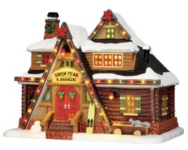 Lemax Village Collection Snow Peak Lodge with Adaptor # 55924