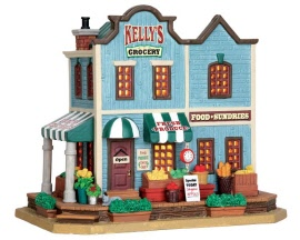 Lemax Village Collection Kelly's Corner Grocery # 55948