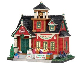 Lemax Village Collection School Gingerbread Fest # 55949