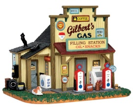 Lemax Village Collection Gilbert's Gasoline Station # 55977
