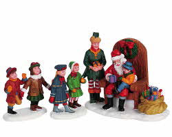 Lemax Village Collection Visiting Santa Set of 3 # 62276