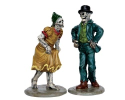 Lemax Spooky Town Skeleton Jig Set of 2 # 62422