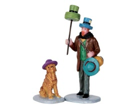 Lemax Village Collection Hat Peddler Set of 2 # 62439