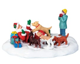 Lemax Village Collection Puppies Love Santa # 63275