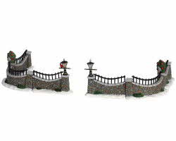 Lemax Village Collection Stone Wall Set of 6 # 63576