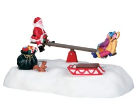 Lemax Village Collection Santa Seesaws Battery Operated  # 64042