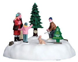 Lemax Village Collection Pine Hill Tree Farm Battery Operated  # 64062