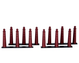 Lemax Village Collection Amsterdammertje ( Traffic Bollard ) Set of 4 # 64069
