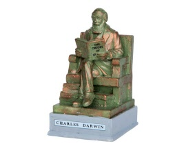 Lemax Village Collection Park Statue Charles Darwin # 64074