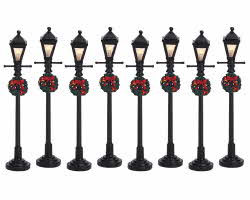 Lemax Village Collection Gas Lantern Street Lamp Set of 8 # 64500
