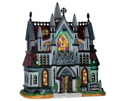 Lemax Spooky Town All Hallows Cathedral with Adaptor # 65072
