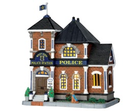Lemax Village Collection West Side Police Station # 65085