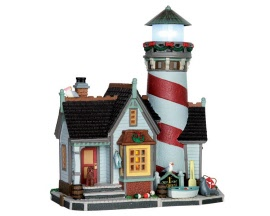 Lemax Village Collection Crest Point Lighthouse Battery Operated  # 65094