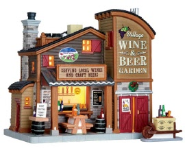Lemax Village Collection Village Wine & Beer Garden Set of 2 # 65111