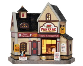 Lemax Village Collection Fanfare Music Shop # 65128