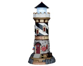 Lemax Village Collection Windy Cape Lighthouse Battery Operated  # 65157