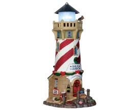 Lemax Village Collection Snug Harbor Lighthouse Battery Operated  # 65163