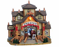 Lemax Village Collection The Wildwood Theater with Adaptor # 65389