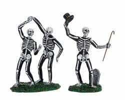 Lemax Spooky Town Dancing Skeletons Set of 2 # 72377
