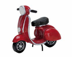 Lemax Village Collection Red Moped # 74610