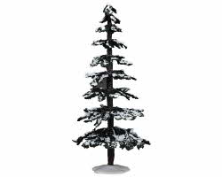 Lemax Village Collection Snowy Cedar Tree Extra Large 12 inch # 74641