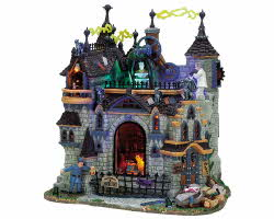 Lemax Spooky Town Frankenstein's Laboratory with Adaptor # 75501