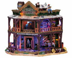 Lemax Spooky Town Dry Gulch Hotel with Adaptor # 75553