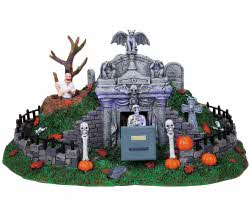 **NO OUTER BOX** Lemax Spooky Town Hillside Mausoleum # 84745 **READ DESCRIPTION**