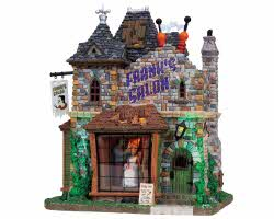 Lemax Spooky Town Frank's Salon with Adaptor # 85662