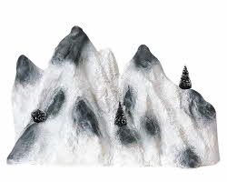 Lemax Village Collection Medium Ski Mountain Backdrop # 91021