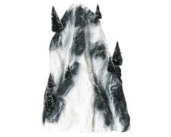 Lemax Village Collection Large Ski Mountain Backdrop # 91025