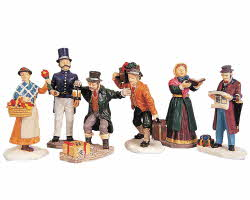 Lemax Village Collection Townsfolk Figurines Set of 6 # 92355