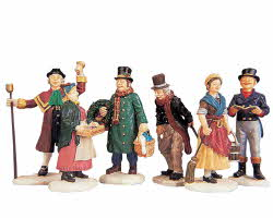 Lemax Village Collection Village People Figurines Set of 6 # 92356