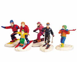 Lemax Village Collection Winter Fun Figurines Set of 5 # 92357