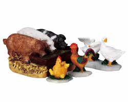Lemax Village Collection The Hog Trough Set of 4 # 92613