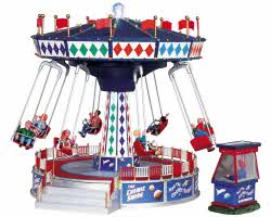 **NO OUTER BOX** Lemax Village Collection The Cosmic Swing with Adaptor # 94956 **READ DESCRIPTION**
