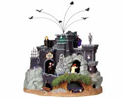 Lemax Spooky Town Vampire Caverns with Adaptor # 94961