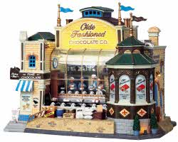 Lemax Village Collection Olde Fashioned Chocolate Co. with Adaptor # 95888