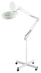 Fluorescent Magnifier Lamp and Stand White 5 Diopter