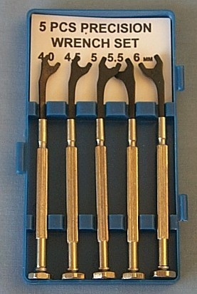 Mini Metric Open End Wrench 5 Piece Set