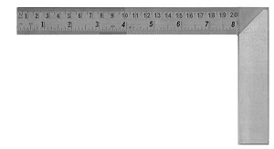 Machinists Square 8 inch with Ruler