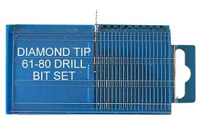 Diamond Drill Bit Set 20 Pieces #61 - 80