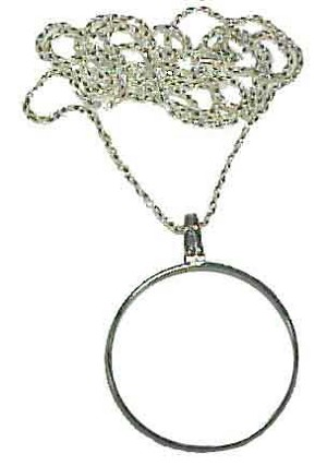 Necklace Magnifier 1 1/2 inch 5x