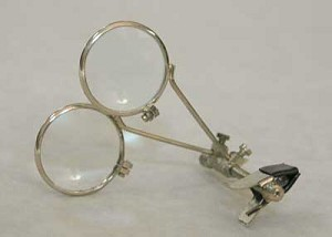 Jewelers Eye Loupe for Glasses Two 5x Lenses